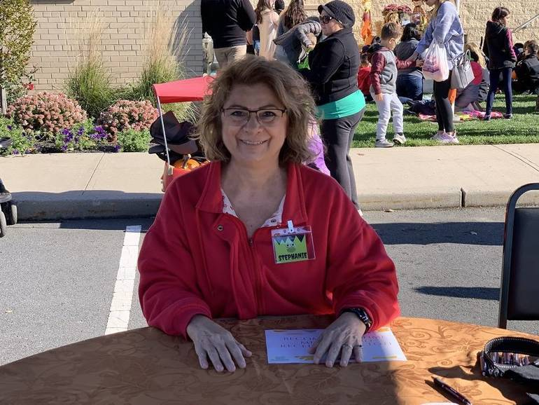 Fall Fest - Stephanie, President of the Friends to the Library.jpg