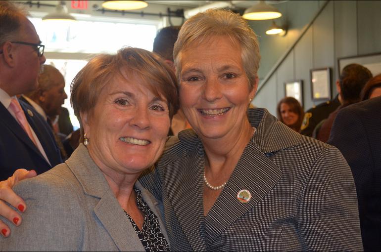 Fanwood's Director of Economic Development Liz Jeffrey and Councilwoman Trish Walsh.png