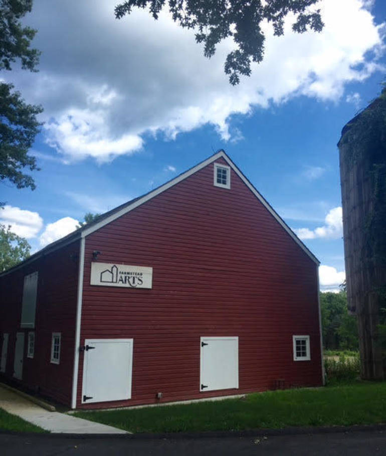 The English barn at the Farmstead Arts