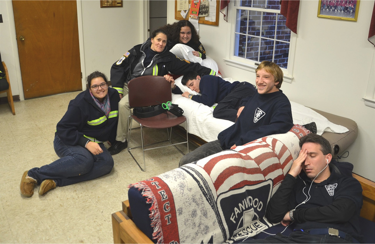 Fanwood Rescue Squad standby crew after Hurricane Sandy in 2012 Some of us slept on the floor the night the storm hit..png