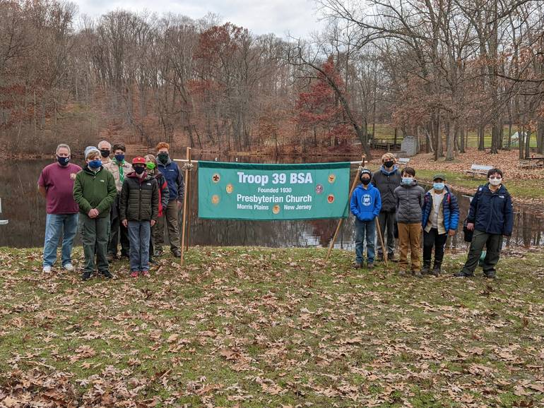 """Safe, socially-distanced """"family fun campout"""" for Scouts BSA Troop 39 at the Morris Plains Community Park"""