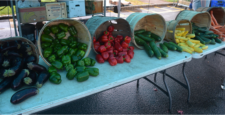 Fresh vegetables from Asprocolas Acres at the Scotch Plains Farmers Market on Saturday, May 23.