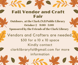 Vendors Needed for Fall Craft Fair at Clark Library