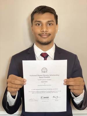 Thomas Edison EnergySmart Charter School Student Awarded Prestigious National Honor Society Scholarship