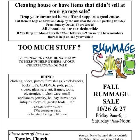Townley Presbyterian Church to Hold Rummage Sale | TAPinto