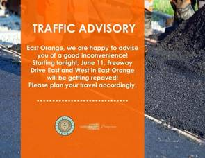Freeway Drive Gets Repaired