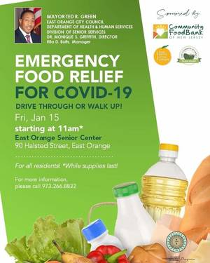East Orange COVID-19 Food Relief Friday Jan. 15