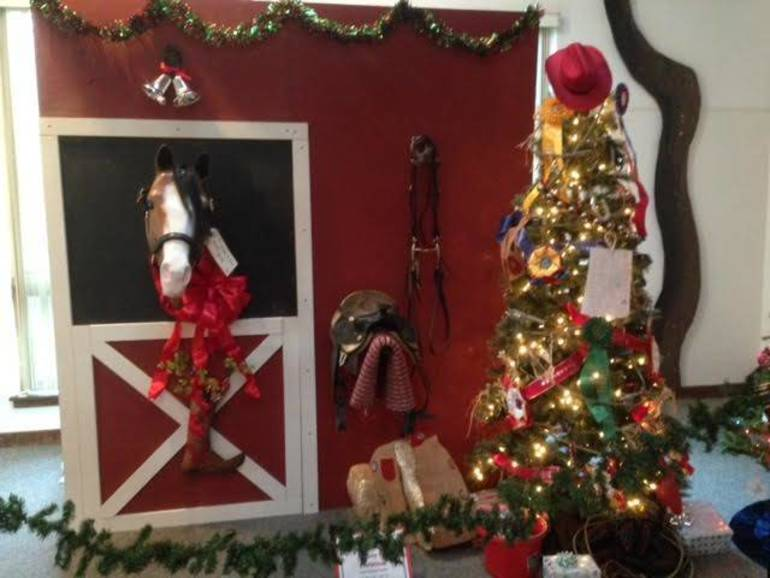 Horsing around at Festival of Trees