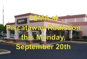 FEMA Comes to Piscataway Radisson Hotel on Monday