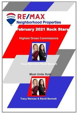 RE/MAX Neighborhood Properties Rock Star Agents of the Month - February