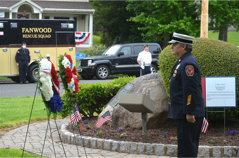 Wreath-laying ceremony in Fanwood.