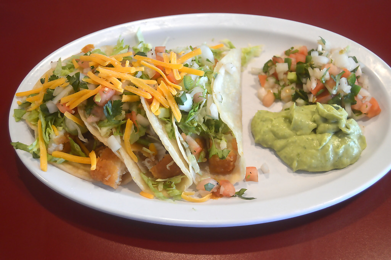 Fish soft tacos at The Fanwood Grille