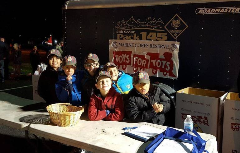 Clark's Cub Pack 145 Asking Community to Help 'Toys for Tots' Drive