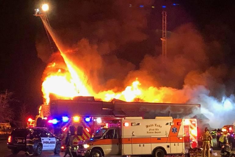 longhorn steakhouse fire, mount olive