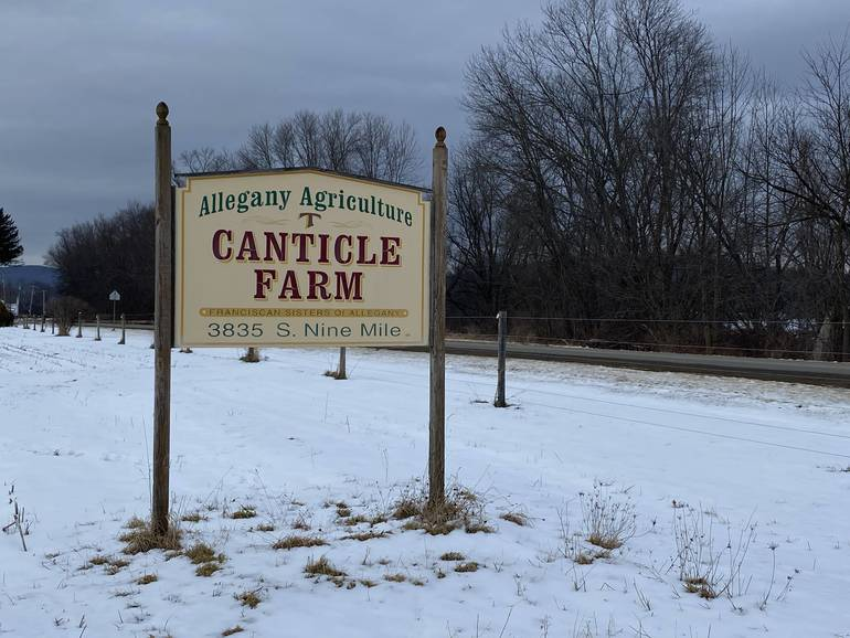 Canticle Farm Sign