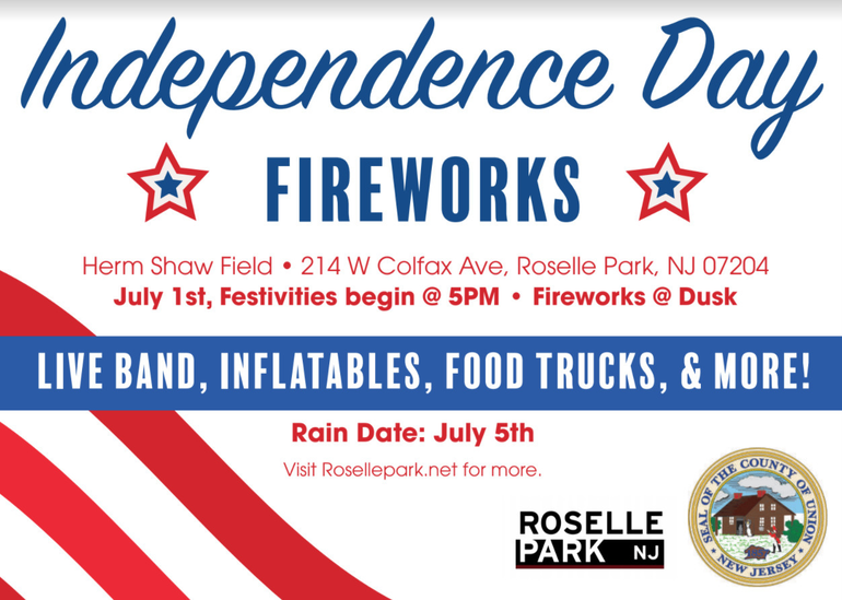 Independence Day Fireworks Coming Back to Roselle Park