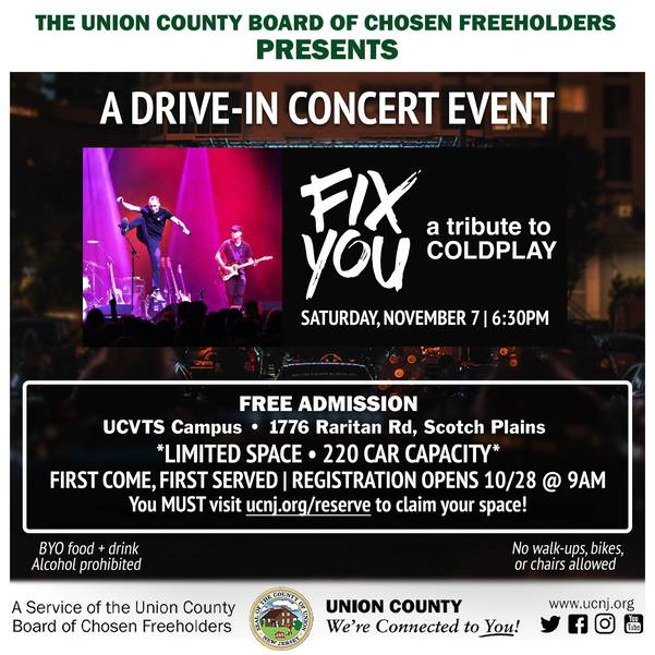 Fix You will play a free concert at the Union County VoTech in Scotch Plains on Nov. 7.