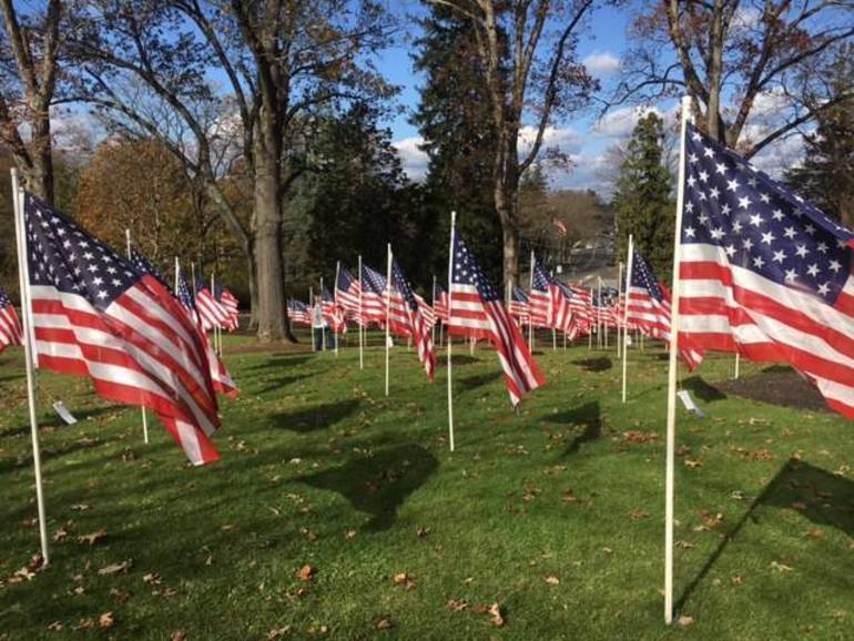 Field of Honor Flags at Bernards Town Hall
