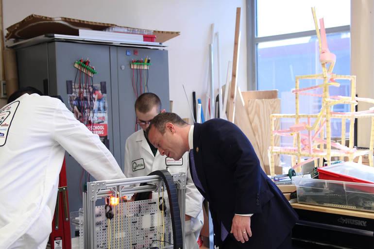 Congressman Gottheimer Visits Newton High School
