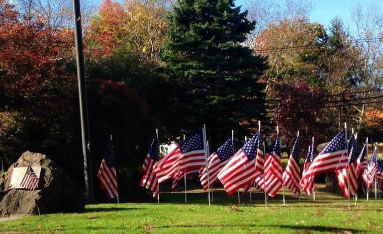 Flags at Bernards municipal complex