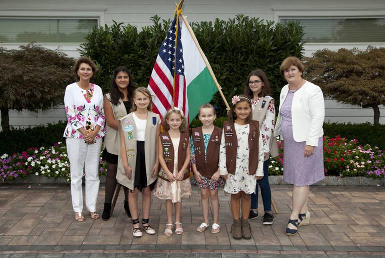Flag Girls with Higgins and Keane.jpg