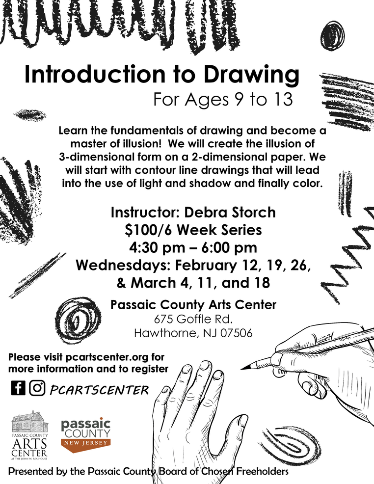 Flyer, Introduction to Drawing 9-13 yrs old, 2020.png
