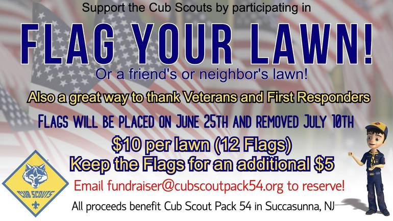 Flag your lawn