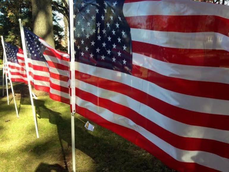 Flags unfurling