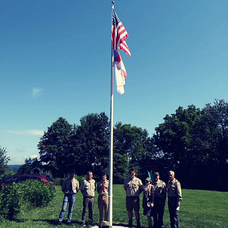 Eagle Scout Flagpole Project at Pittstown Church