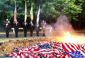Mercer County to Respectfully Retire Flags (Postponed)
