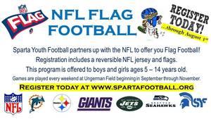 Sparta Spartan Flag Football Registration Open Until August 1