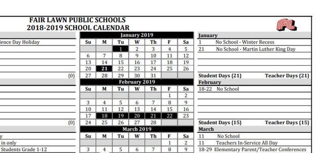 Fair Lawn Trustees Approve 2019-2020 School Calendar | TAPinto