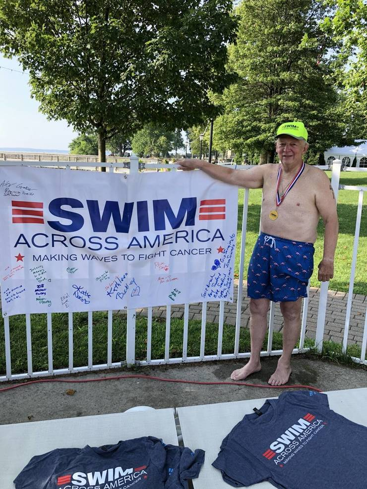 The Osborn Resident Don Fowley Hits the Mark Swimming for Cancer Research