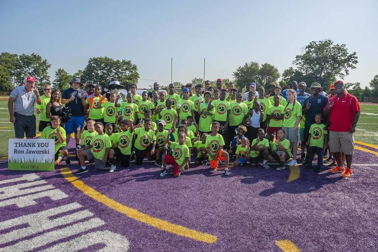 Camden Youth Take Part in Football Skills Clinic with Eagles' Ron Jaworski