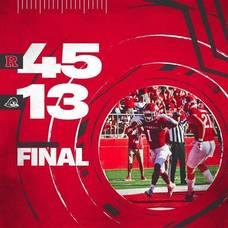 RU Football Defeats Delaware, 45-13