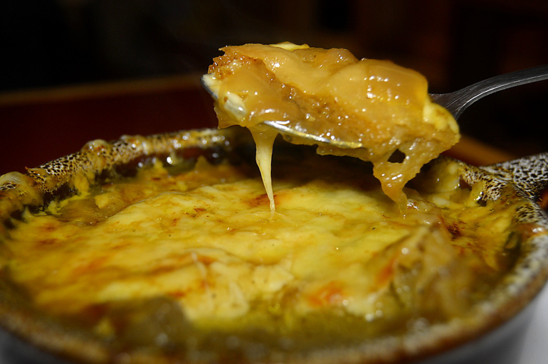 French onion soup at The Fanwood Grille.