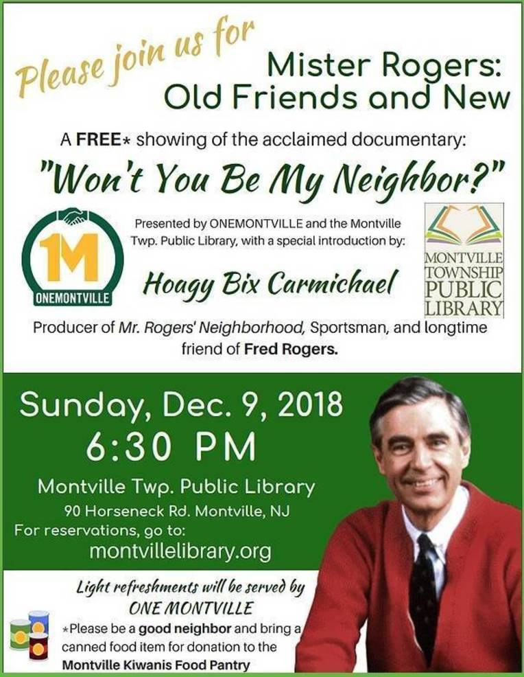 Onemontville And Montville Library Present Mr Rogers Film Tapinto