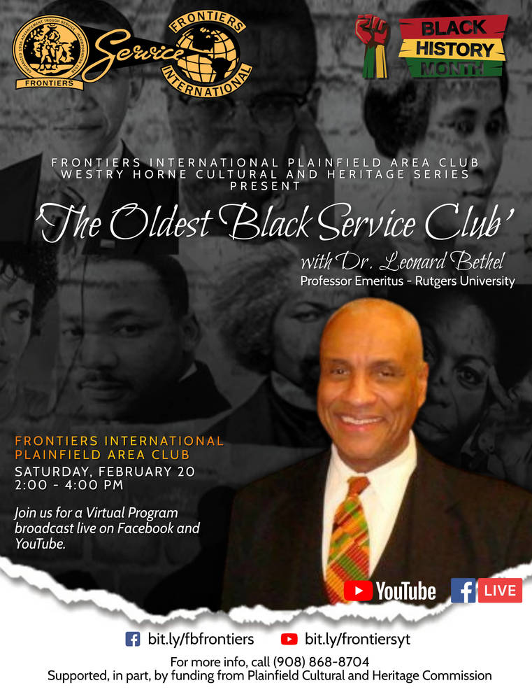 """Plainfield Frontiers Club to Hold """"The Oldest Black Service Club"""" Program"""