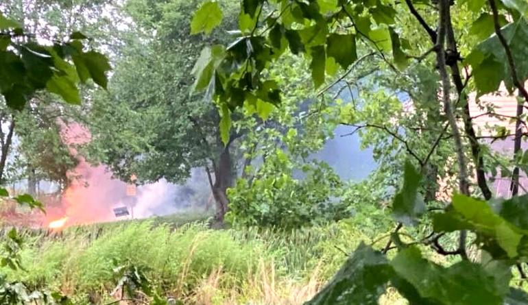 Fire near Frazee House in Scotch Plains.