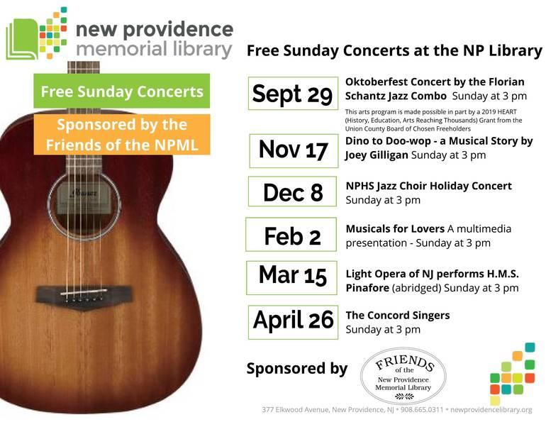 Oktoberfest Concert on 9/29 Kicks Off 2019-2020 Series at New Providence Library