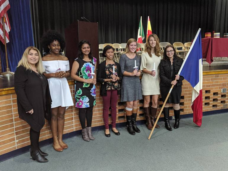 Scotch Plains-Fanwood High School French Honor Society 2019 inductees.