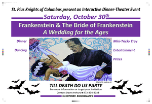 Knights of Columbus Sponsoring 'Frankenstein and the Bride of Frankenstein: A Wedding for the Ages'