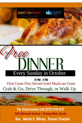 Come Get a Free Dinner on Sundays