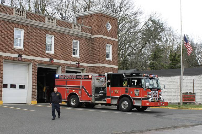 Maplewood Fire Department Checks Smoke Condition at Winchester Gardens