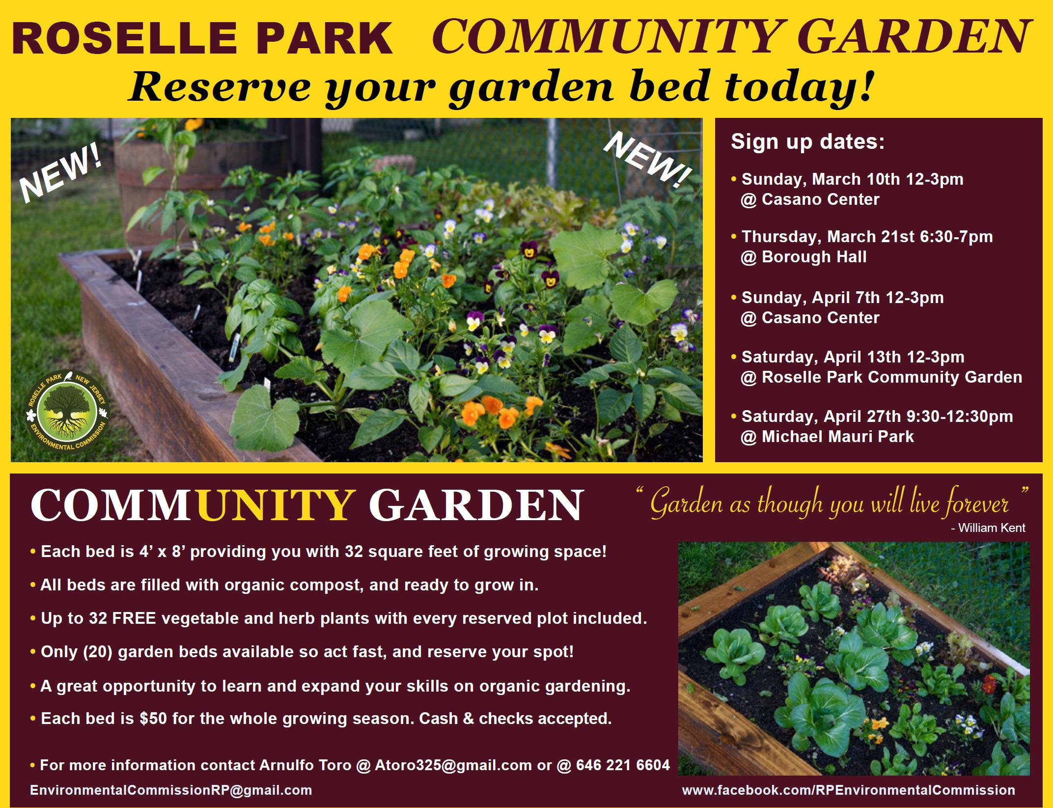 Roselle Park Community Garden