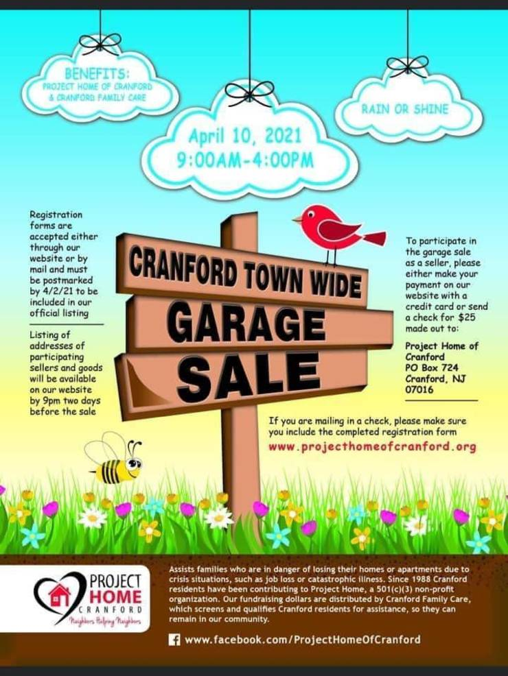 Cranford's Annual Town-Wide Garage Sale Announced for April 10