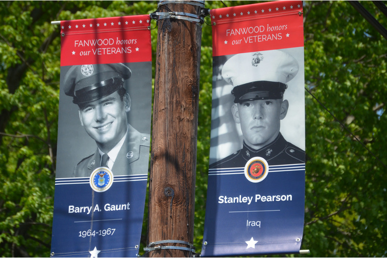 "Fanwood's ""Hometown Heroes"" banners have returned."