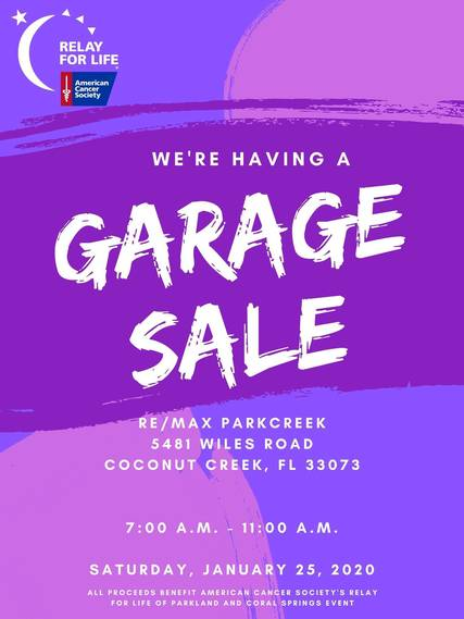 Top story 32e290ef253ad673e1c2 garage sale  rfl of parkland and coral springs  january 2020