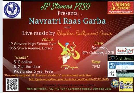 John P  Stevens PTSO Hosts First Navratri Raas Garba to