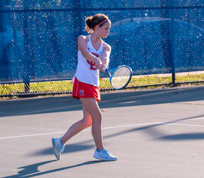 Tennis Ace Gretchen Probst is Named Valairco Heating and Cooling Highlander Athlete of Week